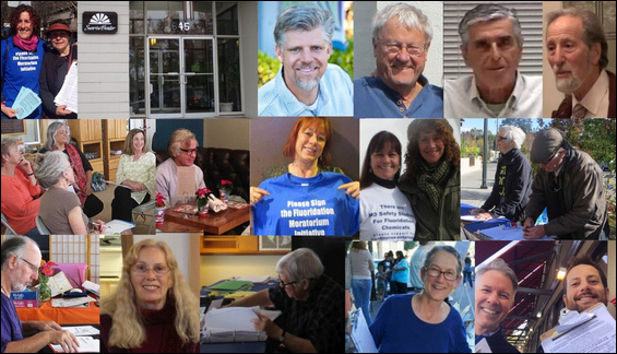 MMWD Fluoridation Moratorium Initiative sponsors, with just a few of the hundreds of dedicated campaign volunteers