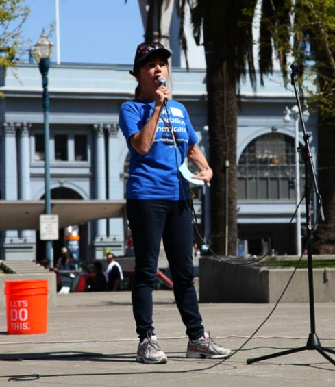 Dawna Gallagher-Stroeh at the CleanWater California Rally.