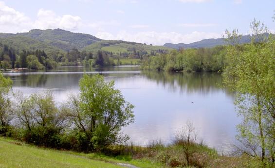 Santa Rosa Creek Reservoir in Spring Lake Regional Park, Sonoma County, California