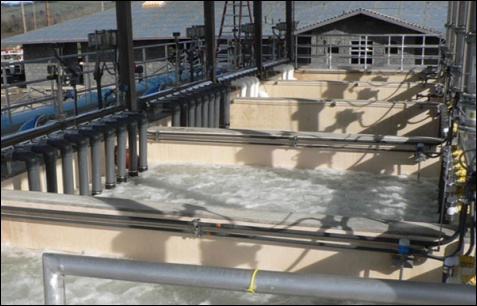 Healdsburg membrane bioreactor wastewater treatment plant