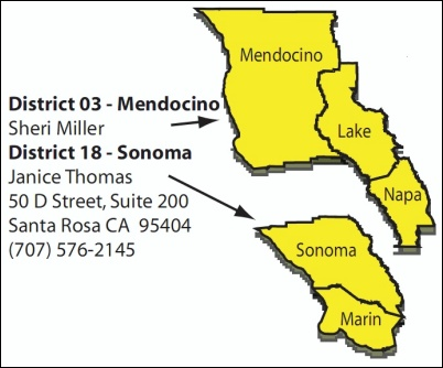 State water offices, Mendocino & Sonoma