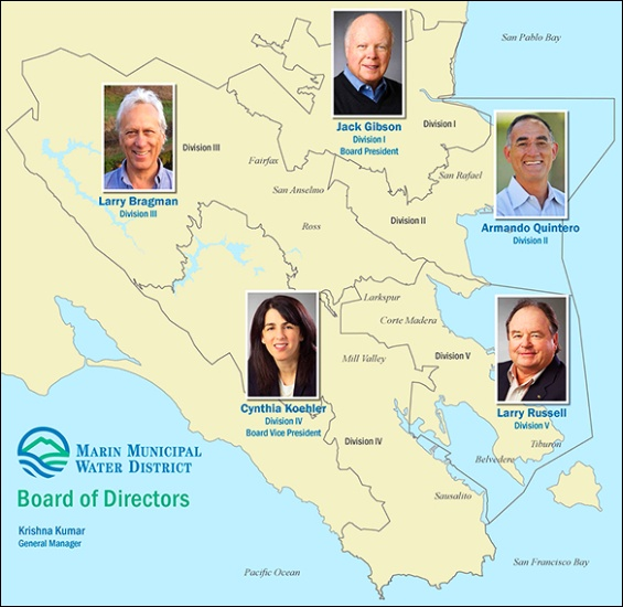 MMWD map with Board Members (2015)