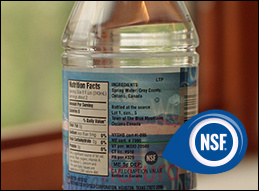NSF-logo-on-bottled-water